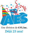 Logo AES 25 ans